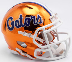 Florida Gators Helmet Riddell Replica Mini Speed Style Chrome Alternate**Free Shipping**