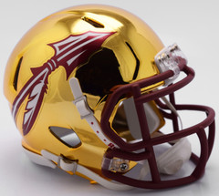 Florida State Seminoles Helmet Riddell Replica Mini Speed Style Chrome Alternate