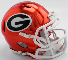 Georgia Bulldogs Helmet Riddell Replica Mini Speed Style Chrome Alternate