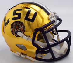 LSU Tigers Helmet Riddell Replica Mini Speed Style Chrome Alternate**Free Shipping**