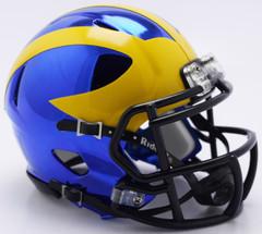 Michigan Wolverines Helmet Riddell Replica Mini Speed Style Chrome Alternate