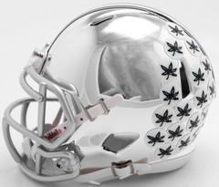 Ohio State Buckeyes Helmet Riddell Replica Mini Speed Style Chrome Alternate