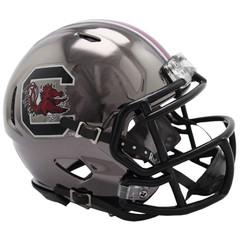 South Carolina Gamecocks Helmet Riddell Replica Mini Speed Style Chrome Alternate