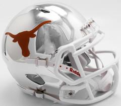 Texas Longhorns Helmet Riddell Replica Mini Speed Style Chrome Alternate**Free Shipping**