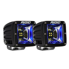 RIGID Industries Radiance Scene Lights - Surface Mount Pair - Black w/Blue LED Backlight [62801]