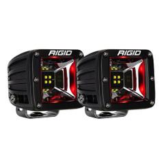 RIGID Industries Radiance Scene Lights - Surface Mount Pair - Black w/Red LED Backlight [68202]