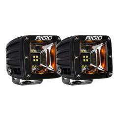 RIGID Industries Radiance Scene Lights - Surface Mount Pair - Black w/Amber LED Backlights [68204]