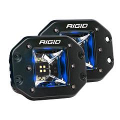 RIGID Industries Radiance Scene Lights - Flush Mount Pair - Black w/Blue LED Backlights [68211]