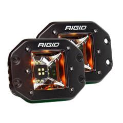 RIGID Industries Radiance Scene Lights - Flush Mount Pair - Black w/Amber LED Backlights [68214]