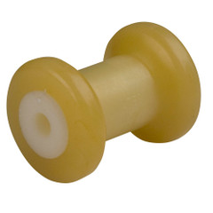 "C.E. Smith Spool Roller 4"" - 1/2"" ID - Gold TPR w/Bushing White Solid [29710]"