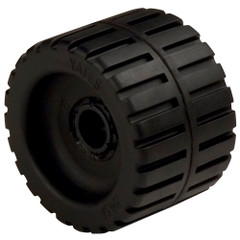 "C.E. Smith Ribbed Wobble Roller 4-3/8"" - 3/4""ID w/Bushing Black [29530]"