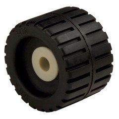 "C.E. Smith Ribbed Wobble Roller 4-3/8"" - 5/8""ID w/Bushing Black [29531]"