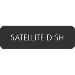 "Blue Sea Large Format Label - ""Satellite Dish"" [8063-0372]"