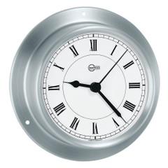"BARIGO Sky Series Quartz Ships Clock - Brushed Stainless Steel Housing - 3.3"" Dial [683RF]"