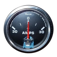 "Faria 2"" Amp Gauge - Chesapeake Black w/Stainless Steel Bezel [AP0529]"