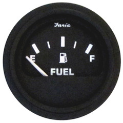 Faria Heavy-Duty Fuel Level Gauge (E-1/2-F) - Black *Bulk Case of 24* [GP0707B]