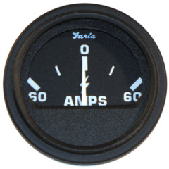 "Faria 2"" Heavy-Duty Ammeter (60-0-60) - Black [23006]"
