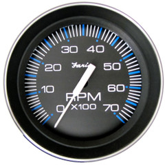 """Faria 4"""" Tachometer (7000 RPM) (All Outboard) Coral w/Stainless Steel Bezel [33005]"""