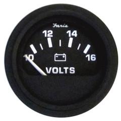 "Faria 2"" Heavy-Duty Voltmeter (10-16 VDC) - Black [23007]"