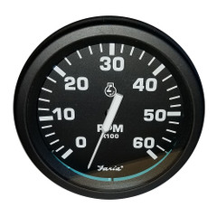 "Faria 4"" Heavy-Duty Tachometer (6000 RPM) Gas - Black *Bulk Case of 12* [TC9755B]"