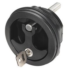 Whitecap Compression Handle Black Nylon Locking - 1\/4 Turn [8726BC]