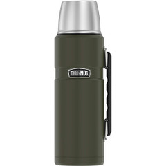 Thermos King Beverage Bottle 40oz - Stainless Steel/Matte Army Green [SK2010AGTRI4]