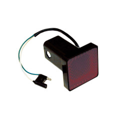 "Draw-Tite Receiver Tube Cover 2"" Square Brake Light w/4-Flat Plug [80980]"