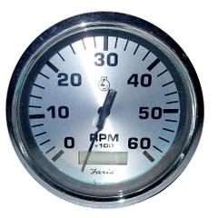 "Faria 4"" Spun Silver Tachometer w/Hourmeter 6000 RPM - Gas - Inboard [36032]"