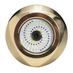 Lumitec Typhoon Underwater Bronze Thru-Hull LED Light - White\/Blue [101448]