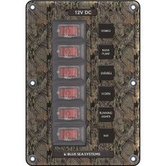 Blue Sea 4325 Circuit Breaker Switch Panel 6 Position - Camo [4325]