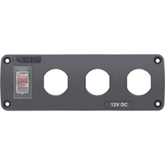 Blue Sea 4367 Water Resistant USB Accessory Panel - 15A Circuit Breaker, 3x Blank Apertures [4367]