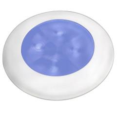 Hella Marine Blue LED Round Courtesy Lamp - White Bezel - 24V [980503241]