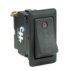 Cole Hersee Sealed Rocker Switch w\/Small Round Pilot Lights SPST On-Off 3 Screw [56327-01-BP]