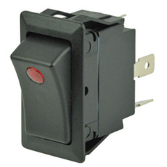 Cole Hersee Sealed Rocker Switch w\/Small Round Pilot Lights SPST On-Off 3 Blade [58327-01-BP]