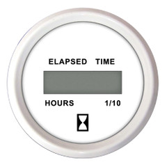 "Faria 2"" Hourmeter (Digital) 10,000 Hours 12-32VDC Dress White - Retail Package [13130]"
