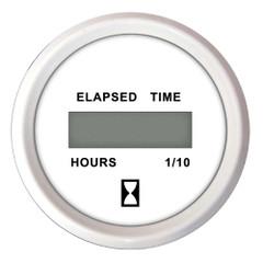 """Faria 2"""" Hourmeter (Digital) 10,000 Hours 12-32VDC Dress White - Bulk Case of 24 [MH0240B]"""