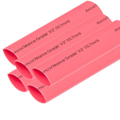 "Ancor Heat Shrink Tubing 1\/2"" x 6"" - Red - 5 Pieces [305606]"