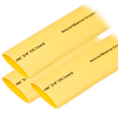 "Ancor Heat Shrink Tubing 3\/4"" x 3"" - Yellow - 3 Pieces [306903]"