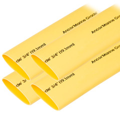 "Ancor Heat Shrink Tubing 3\/4"" x 6"" - Yellow - 4 Pieces [306906]"