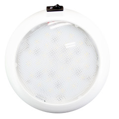 "Innovative Lighting 5.5"" Round Some Light - White\/Red LED w\/Switch - White Housing [064-5140-7]"