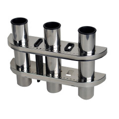 C.E. Smith Triple Rod Holder 304 Stainless Steel [53625A]