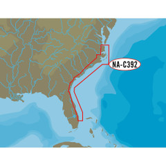 C-MAP NT+ NA-C392 C-Card Format ICW Norfolk to West Palm Florida [NA-C392C-CARD]