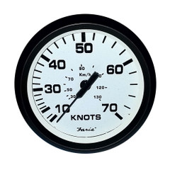 "Faria 4"" Speedometer (70 Knot) Mechanical Euro White [32920]"
