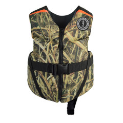Mustang Rev Child Foam Vest - 30-50lbs - Mossy Oak Shadow Grass Blades [MV3565CM-261]