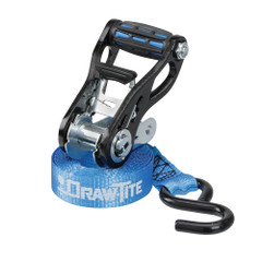 """Draw-Tite Standard Duty Ratchet Tie-Down 1"""" Webbing w\/Grip Handle  Secure Hooks - 4-Pack [94828DT]"""
