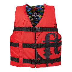 Full Throttle Youth Nylon Life Vest - 50-90lbs - Red [112200-100-002-19]