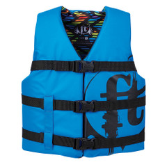 Full Throttle Youth Nylon Life Vest - 50-90lbs - Blue [112200-500-002-19]