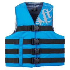 Full Throttle Teen Nylon Life Vest - 90lbs and Over - Blue [112200-500-010-19]