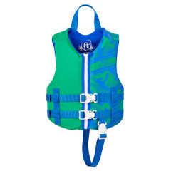 Full Throttle Rapid-Dry Life Vest - Child 30-50lbs - Blue\/Green [142100-400-001-19]