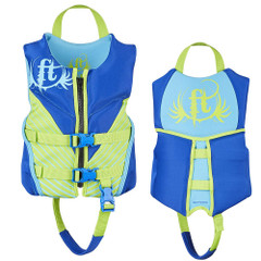 Full Throttle Hinged Rapid-Dry Flex-Back Life Vest - Child 30-50lbs - Blue [142500-500-001-19]